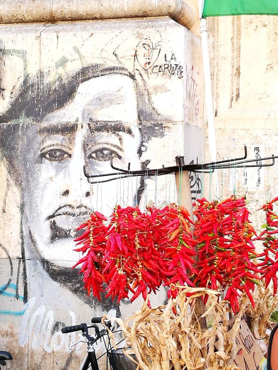 Modigliani Street Photography Red Color Peperoncini Mural Art Chili Pepper Modigliani's dream