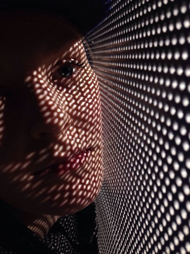 Female Focus On Foreground Full Frame Future Futurism Futuristic Futuristic Patterns Gaze Indoors  Light Light And Shadow No People Pattern Science Fiction Shades Shadow Shadows & Lights Streetphotography