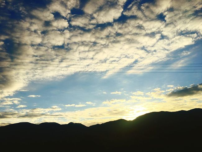 Silhouette Sky Nature Cloud - Sky Beauty In Nature Sunset No People Outdoors Scenics Tranquility Mountain Day