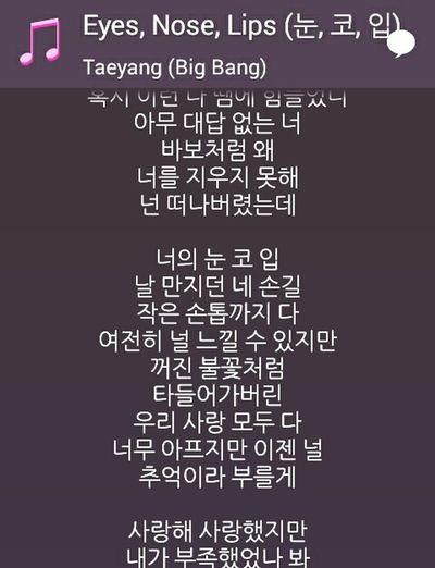 Taeyang Eyes, Nose, Lips Korea Kpop Bigbang HANGUL