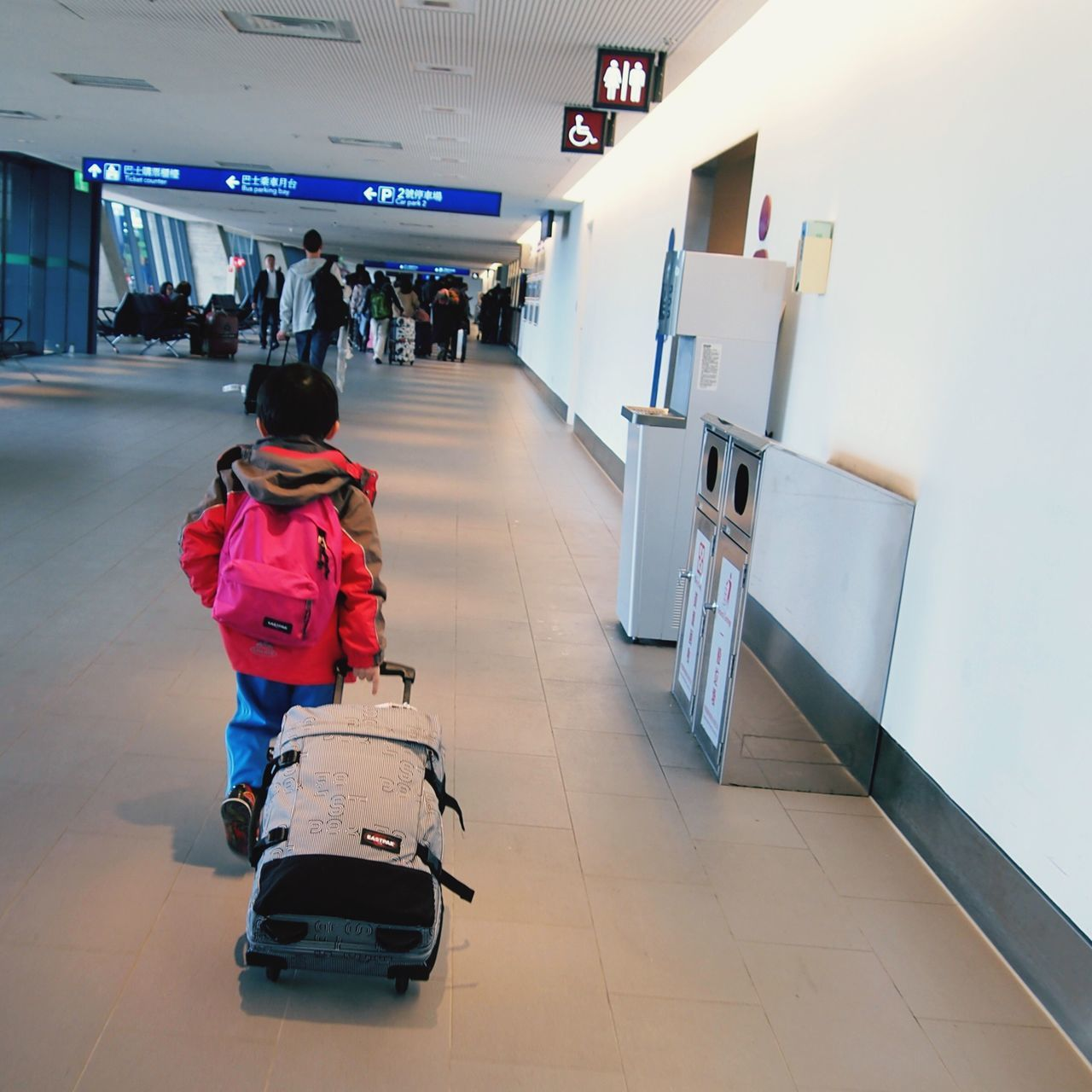 Little Big Boy... Full Length Real People Lifestyles Leisure Activity One Person Indoors  Day People Transportation Mode Of Transport Airport Travelling Photography Travel Plane Little Boy Children Luggage Carry On Taipei,Taiwan