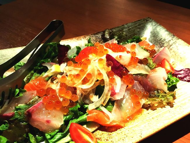 大漁カルパッチョ〜 Freshness Food And Drink Ready-to-eat Appetizer Multi Colored Eyeemphotography Dish Meal Sashimi Dinner Sashimilovers Sashimi Dish Japanese Food Food Sashimiday
