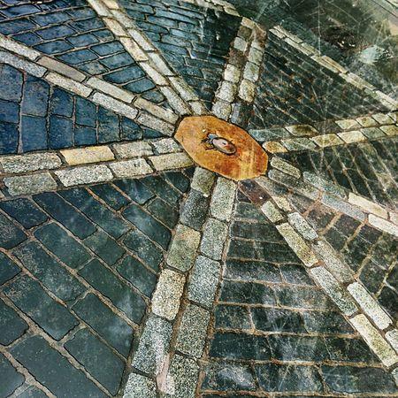 Wheel Pathways Cobblestone Stone Mosaic