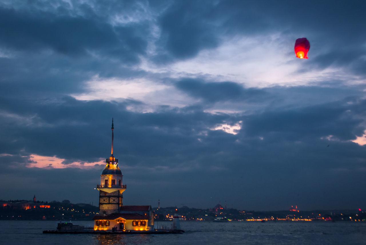 Maidentower Maiden Tower Istanbul Sea Gulls Light Baloon Sunset Night Architecture Love Romantic Nature Sunset Popular