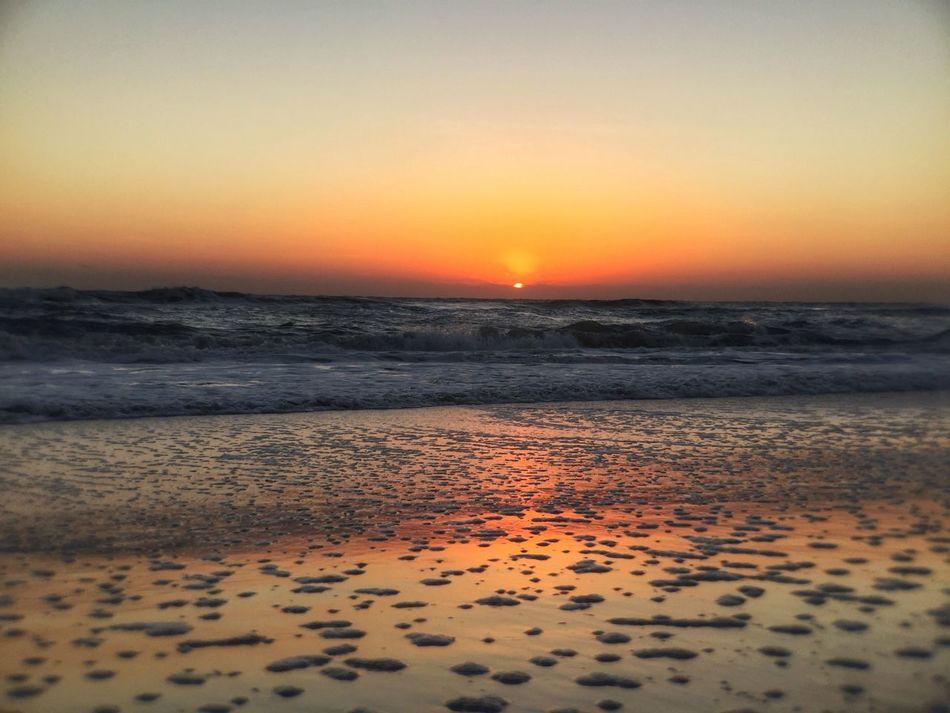 Sud spotted beach at sunrise Colorful Sunrise Sunrise - Dawn Melbourne Beach, FL Sunrise At The Beach Sea Foam Suds Tranquil Scene Tranquility Beach Low Tide