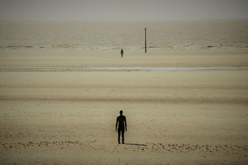 Another Place Another Place By Anthony Gormley Art Beach Beauty In Nature Contemplation Day Horizon Over Water Landscape Lonely Looking Out To Sea Nature On The Beach Outdoors Rear View Sand Scenics Sculpture Sea Seascape Sky Standing Tranquility Water Long Goodbye