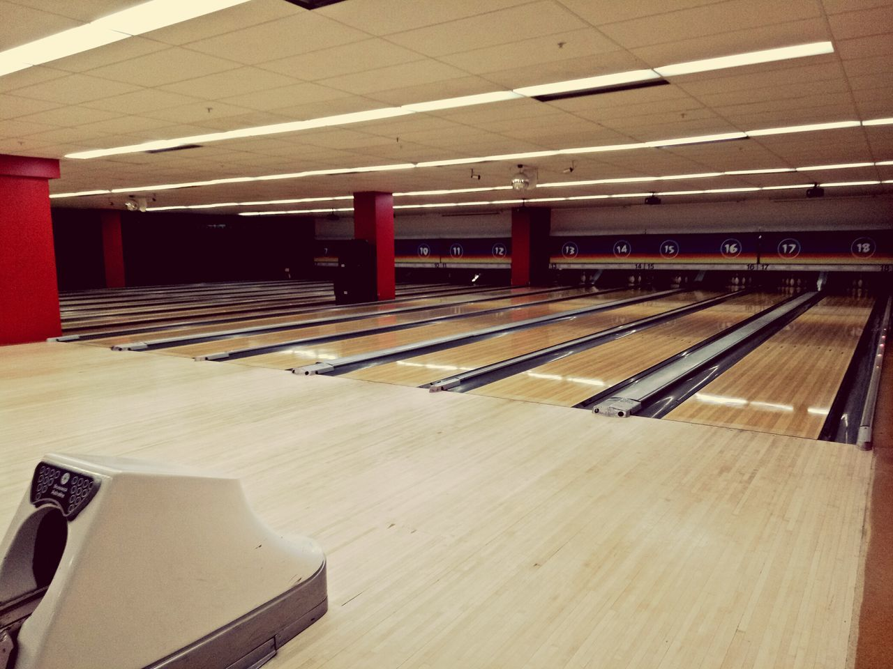 Indoors  No People Wood - Material Bowling Alley Bowling