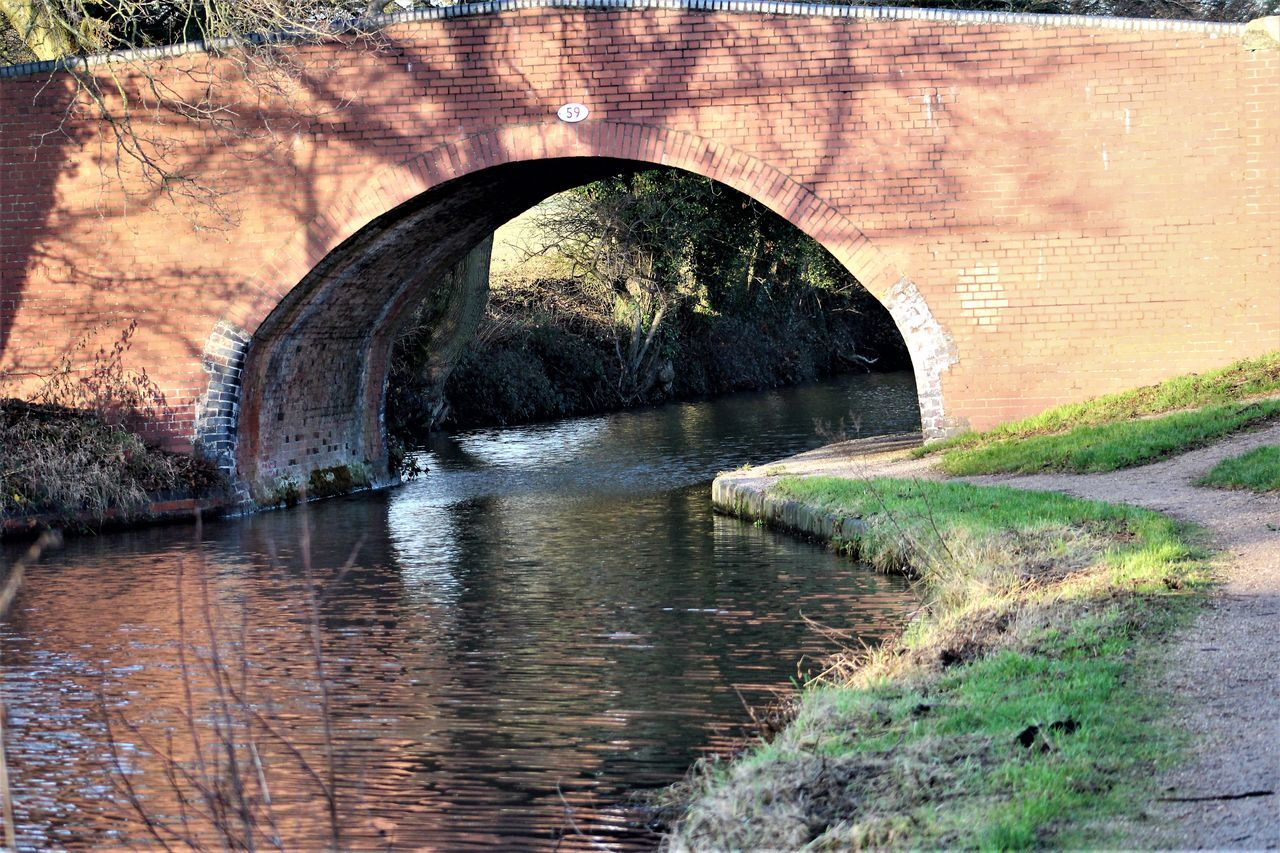 Bricks Bridge Canal Peace And Quiet Reflections In The Water Serenity Shadows Of Trees Towpath