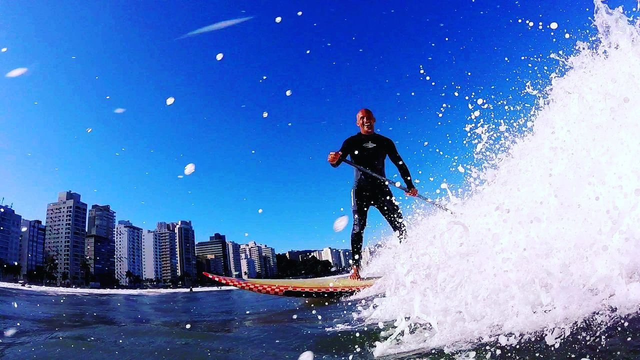 Asturiasbeach ILoveWater Surf's Up Goprohero+lcd Mahalo Gopro Blue Wave 18-030 Surf Water Sea Wave Guarujá
