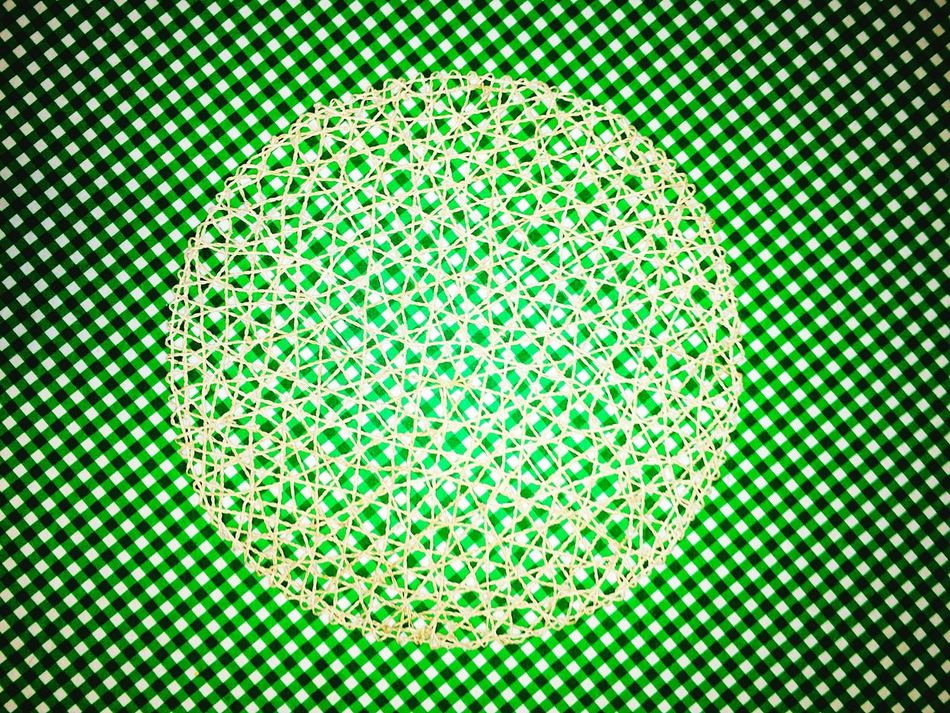 Tablecloth with placemat abstract Abstract Green Green Color Check Pattern Green Checkered Pattern