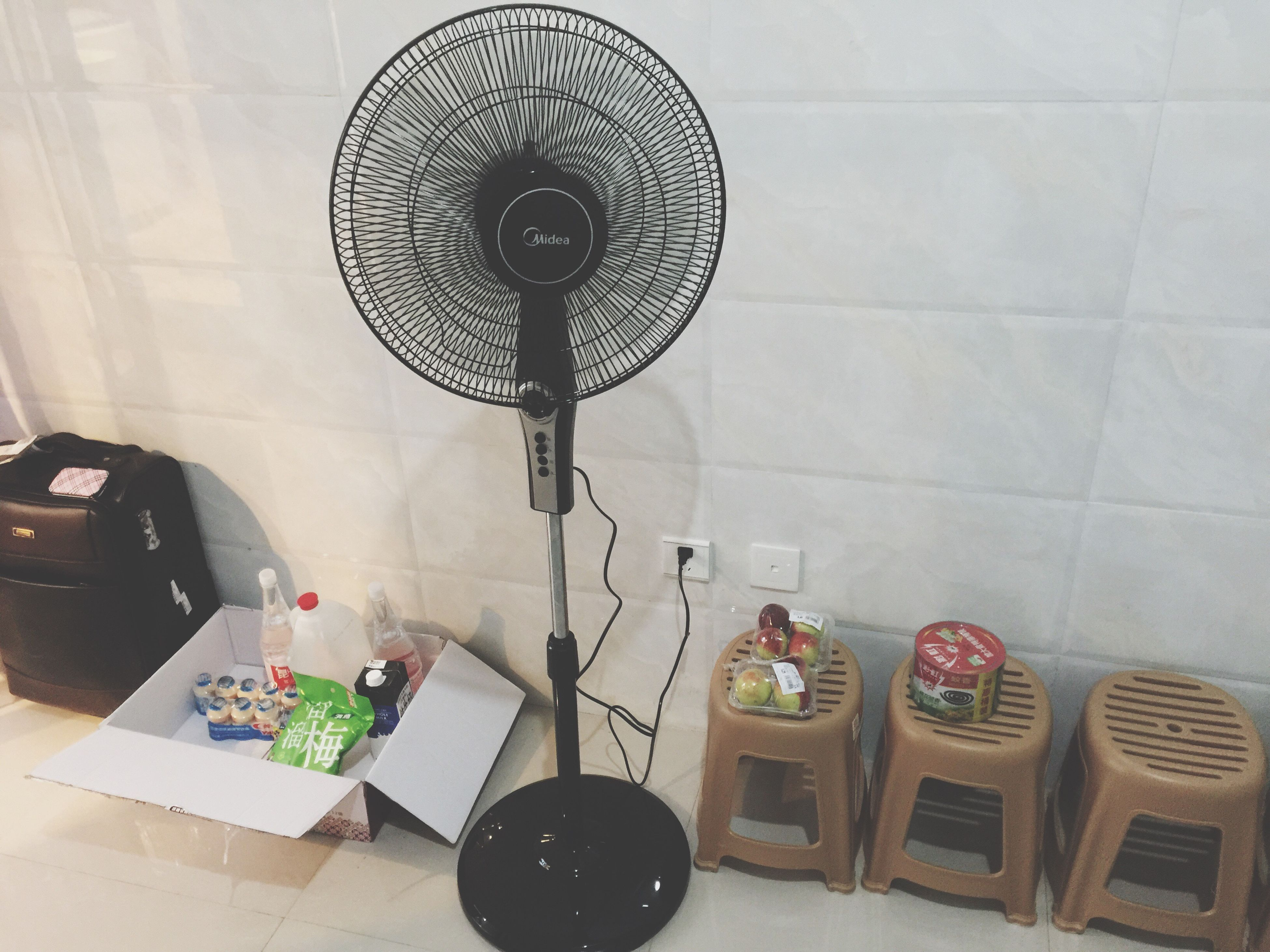 indoors, table, no people, electricity, technology, home interior, electric fan, day