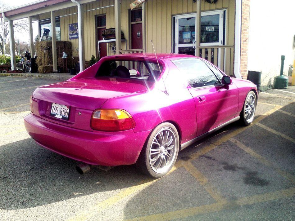 Pink Honda!! Xox Honda Love Cars Check This Out