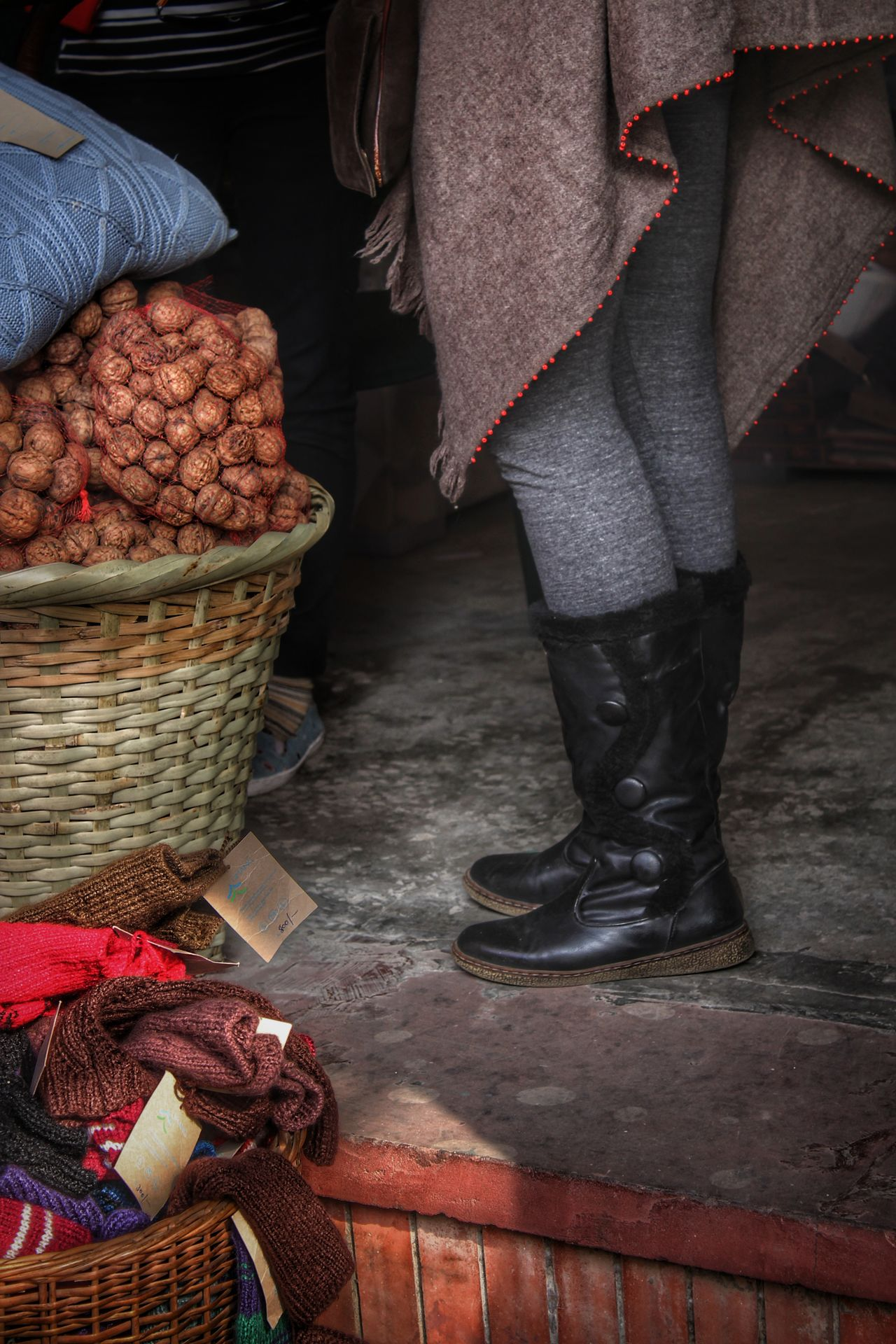Real People Low Section Standing One Woman Only Natural Light Eye4photography  Street Photography Street Fashion Walnuts People Photography EyeEm Best Shots Legs_only Boots Winter Fashion Bazaar Uniqueness