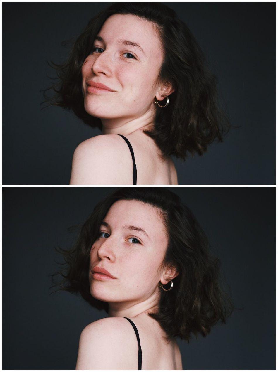 Self portrait. March 2017. Self Portrait Golden Earring Brunette