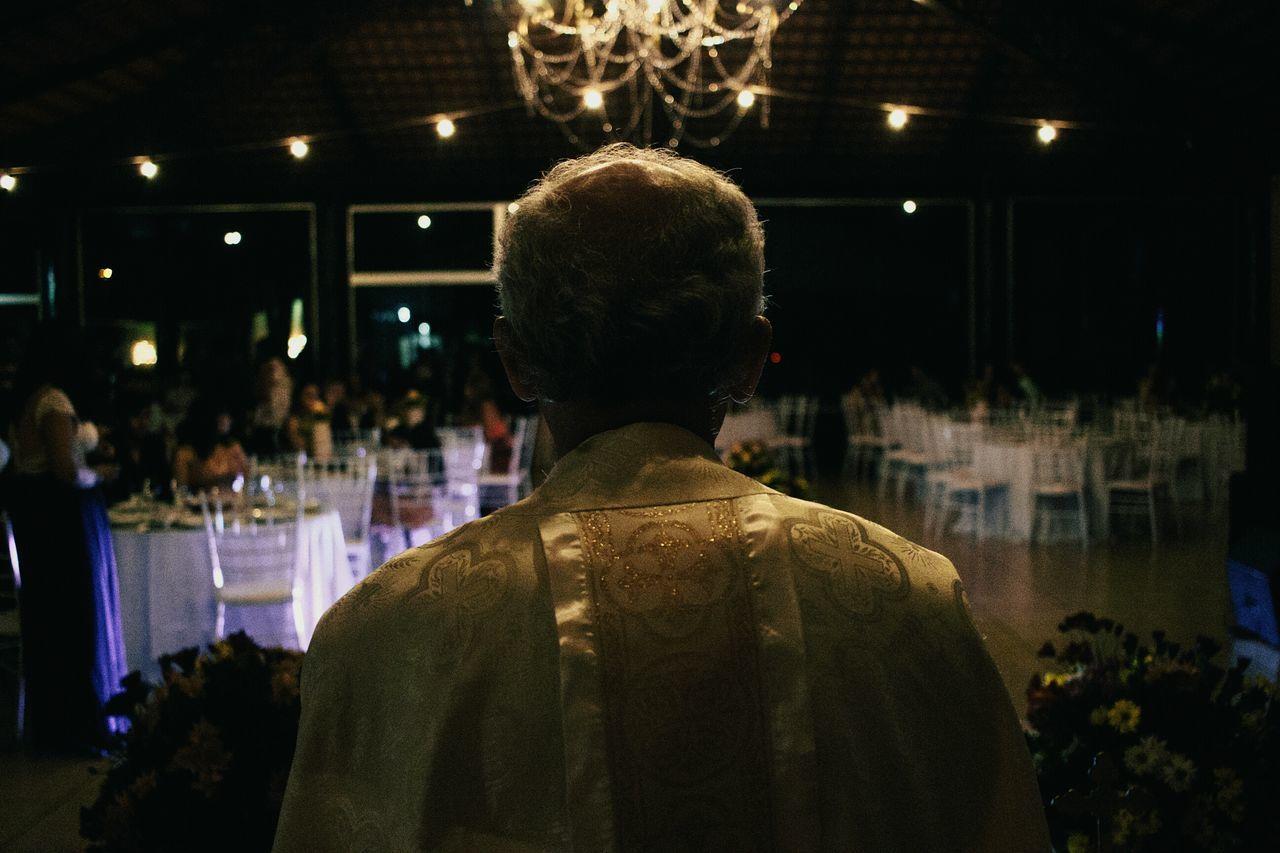 One Man Only Adult People Men Indoors  Religion Wedding Wedding Photography Illuminated Contemplation Man Standing Bokeh Indoors  Night Selective Focus Folk Celebration