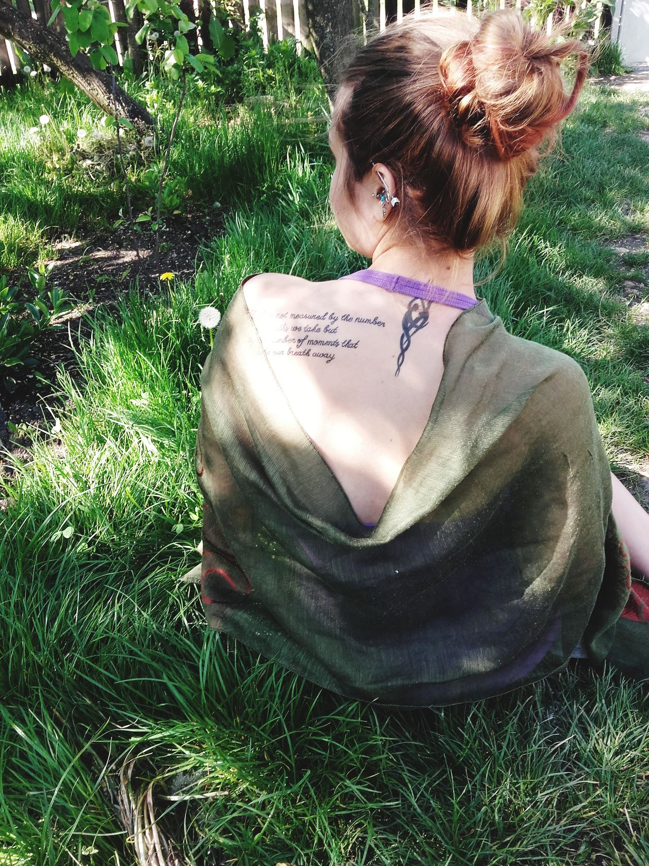 Young Adult Tattooedgirls Tattoolife Rear View Outdoors