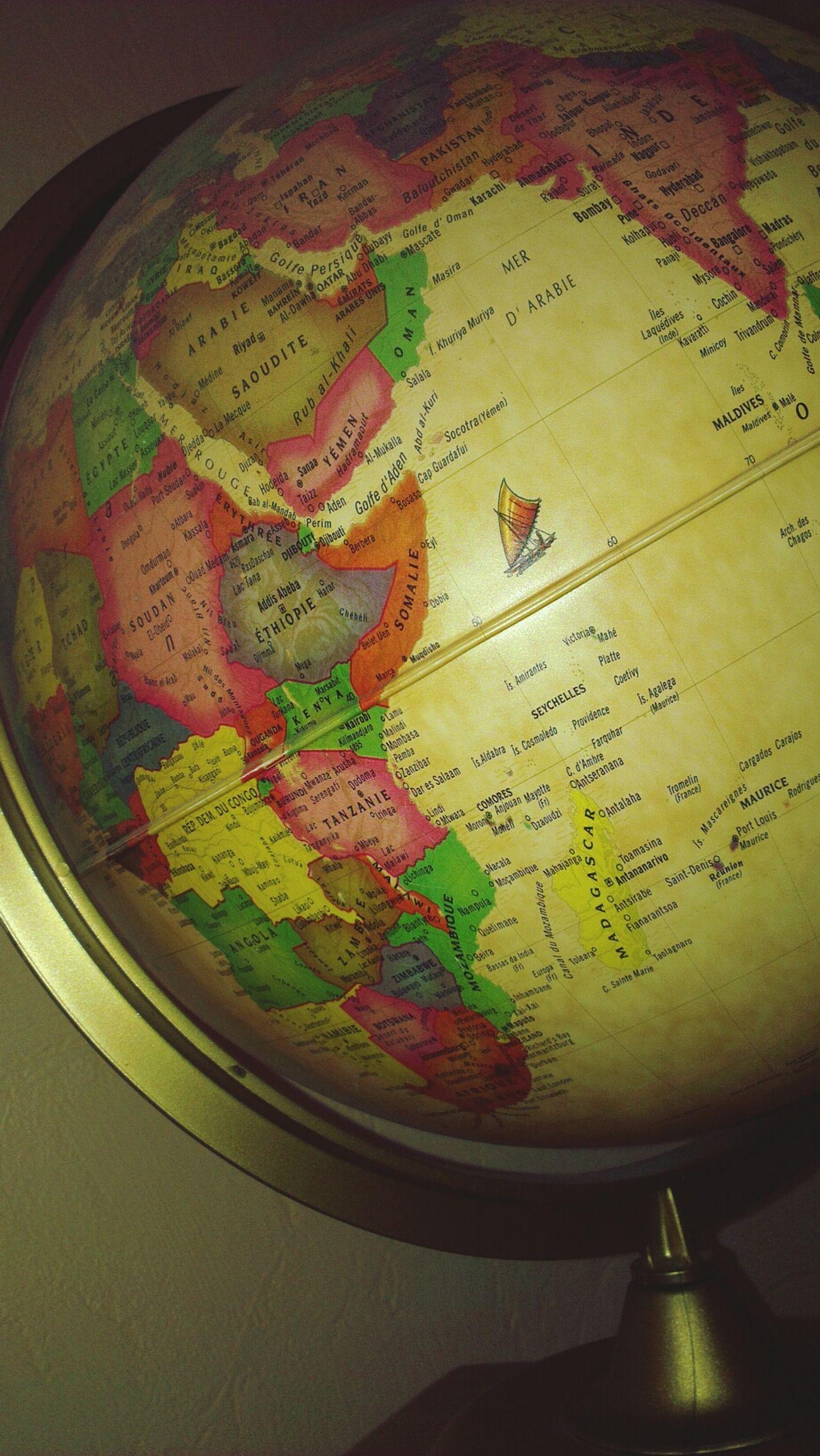 World Globe Carte Map