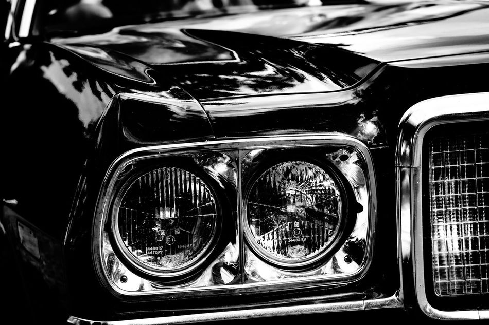 old us car 😎😎💪💪 Automobile Black & White Black Beauty Blackandwhite Capture The Moment Car Chrome Close-up Day EyeEm Best Shots Germany Headlight Hood Land Vehicle Mode Of Transport No People Outdoors Refelections Shiny Sigma 60mm Art Sony Sony A6000 Transportation US Cars USA