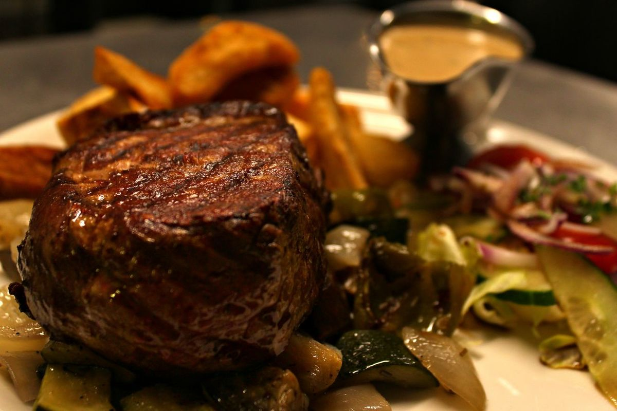 fillet steak with poivre sauce Pieri's Mediterranian Grill House Food Photography Restaurant