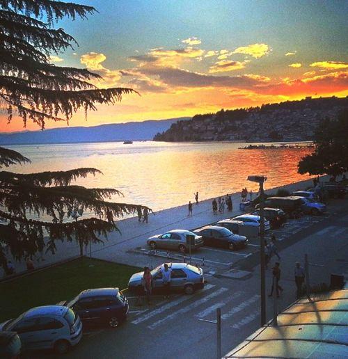 Ohrid Ohrid Lake Ohrid Macedonia Macedoine Macedonia View Royal View Lake Sunset Zonsondergang Travelling Skyporn Boulevard