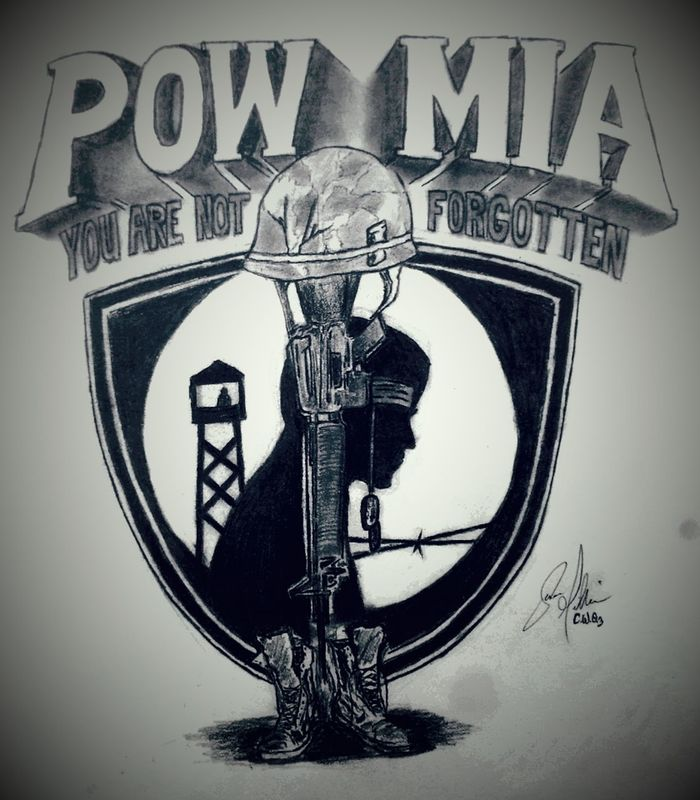 My Prisoner's of War and Missing in Action drawing. I will never forget! Artofvisuals Lead M-16 Photo ArtWork Pencil Photography Drawing Oringinal Military Militarylife Military ♥ Pow Mia Veterans Veteran