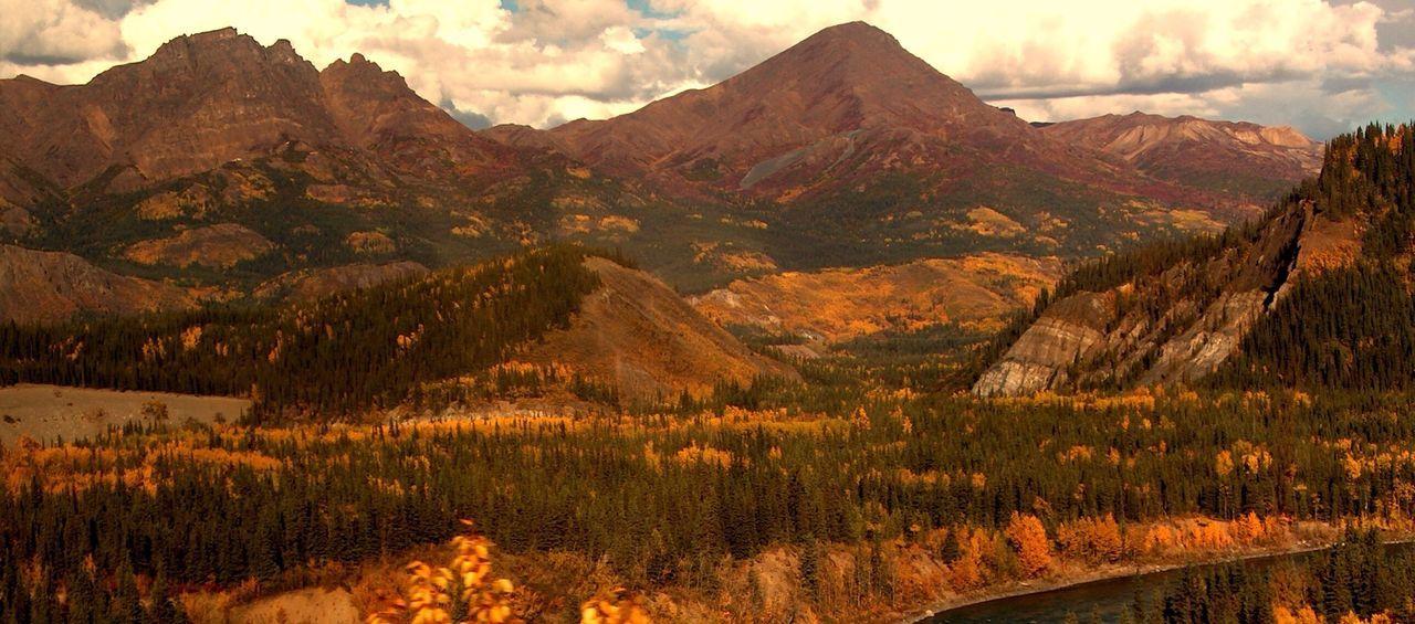 Autumn Fall Colors Alaskan Landscape Alaska Mountains