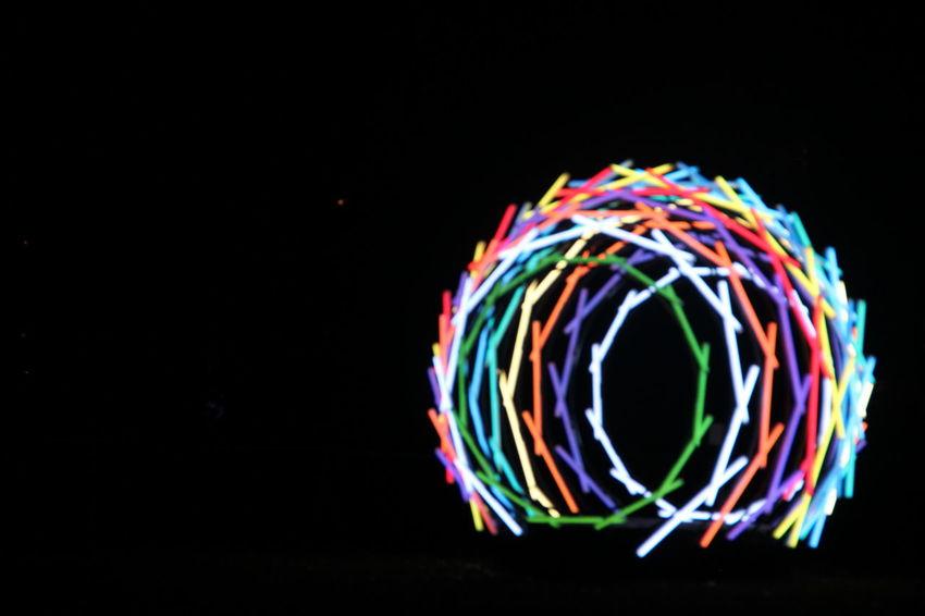 Ball Black Background Color Illuminated Light Multi Colored No People Sphere Swirl