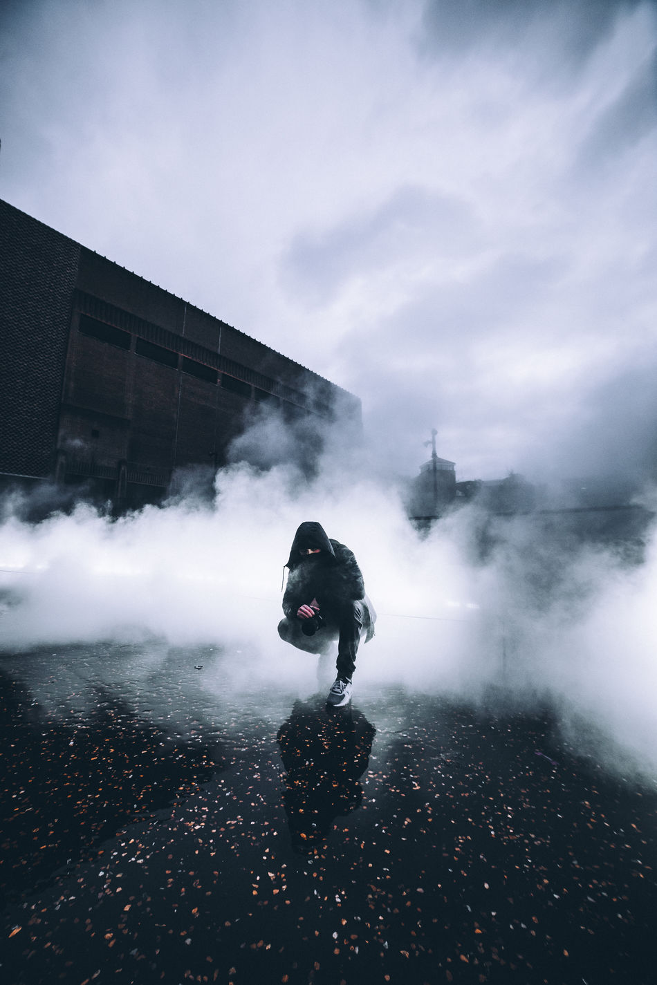 Fog vibes Check This Out City City Life Cloud - Sky Dark Day Explore Exploring Illuminated Light Motion Mysterious One Person Outdoors People Photography Plant Reflection Smoke Smoke - Physical Structure Street Streetphotography Surreal Surrealism Urban The Week On EyeEm