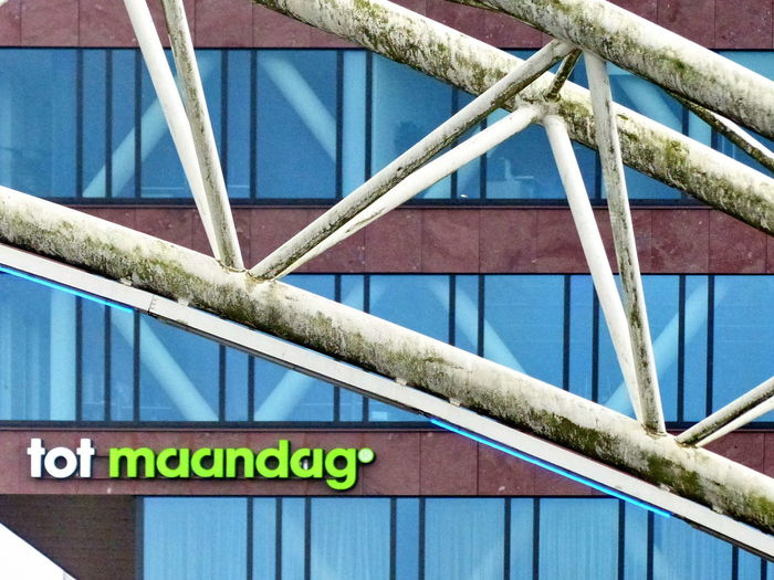See You On Monday Architecture Blue Building Exterior Built Structure Close-up Day No People Outdoors Text Tot Maandag Metro Station Blaak