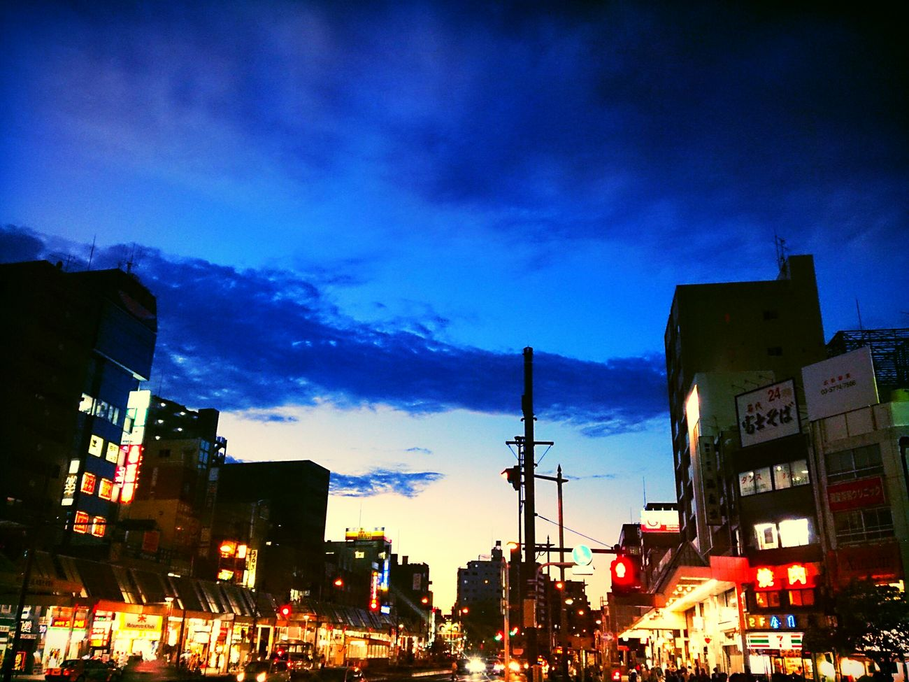 蒼い夜へSky_collection Sunset Streetphotography My Hometown