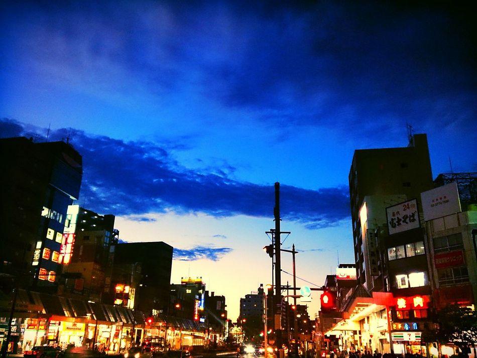 蒼い夜へSky_collection Sunset Streetphotography My Hometown