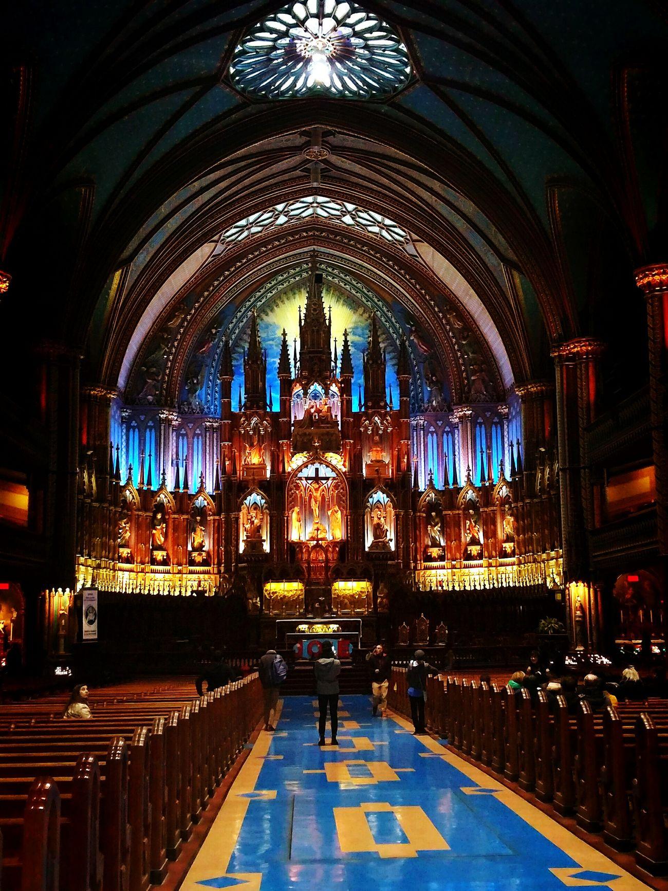 Taking Photos Montrealcity Montreal, Canada Notre-Dame Basilique Notre Dame Basilica Church Canada First Eyeem Photo