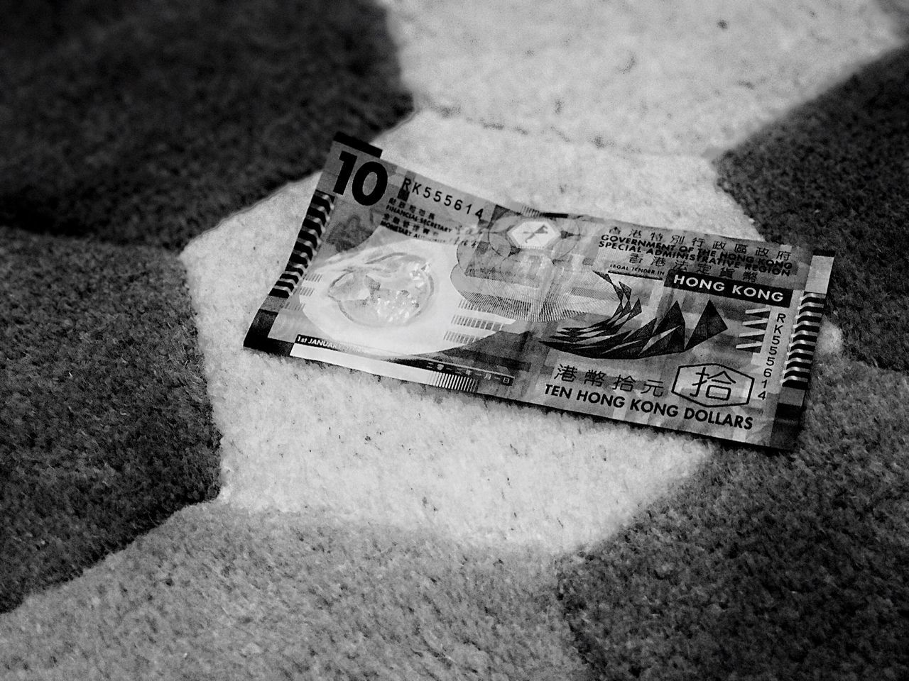 high angle view, currency, paper currency, indoors, finance, wealth, no people, close-up, day