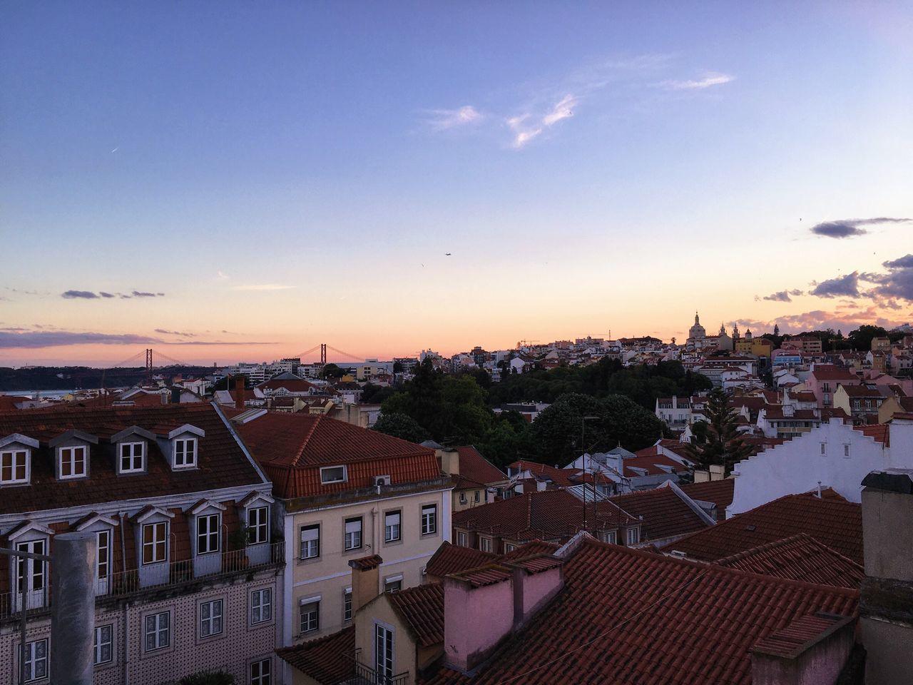 Sunset Skyline Town Ocean Ocean View