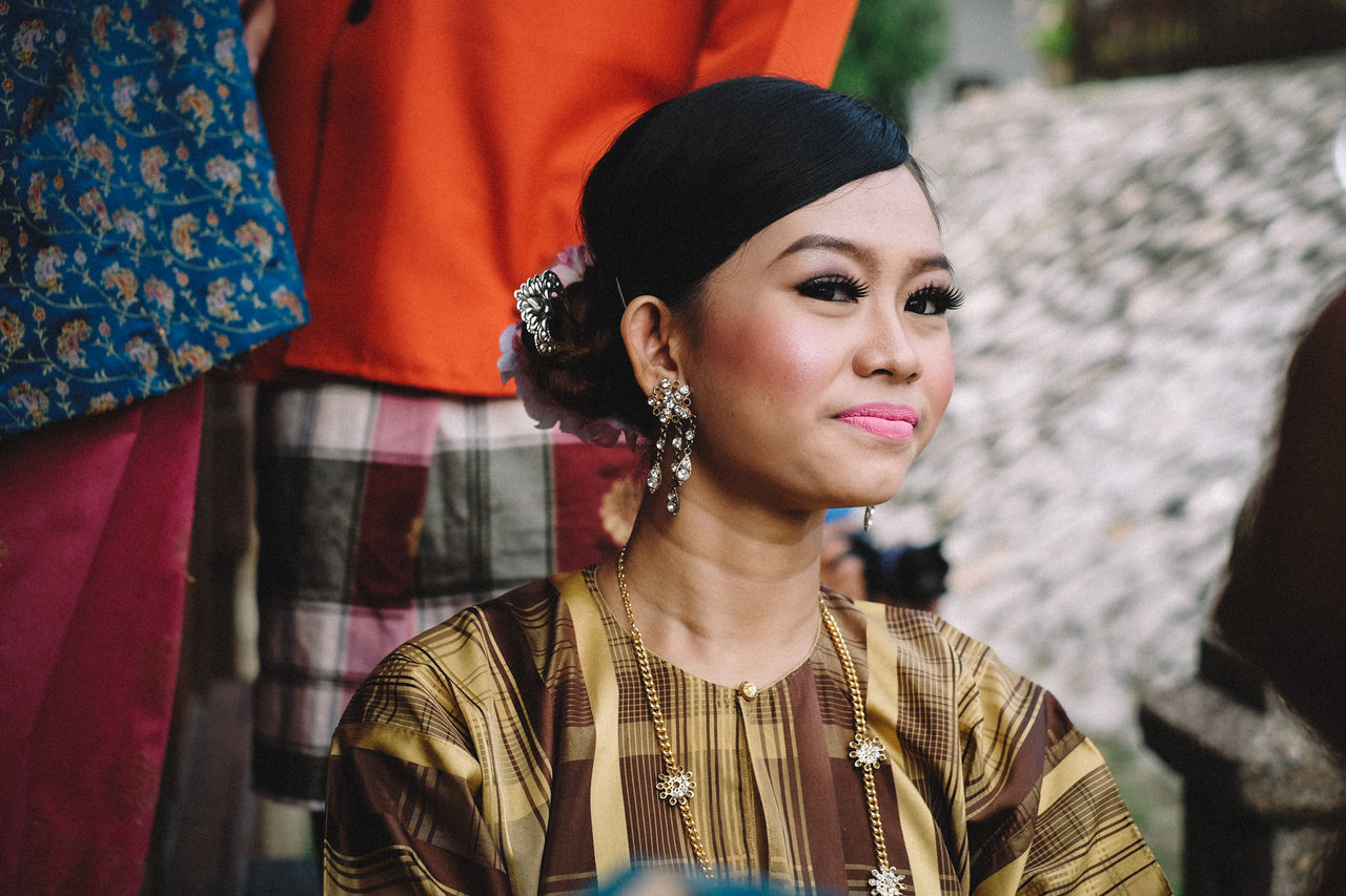 Adult Adults Only Beauty Close-up Day Fujifilm FUJIFILM X-T10 Fujifilm_xseries Headshot Malaysia One Person One Woman Only Only Women Outdoors People Traditional Traditional Clothing Traditional Costumes