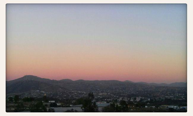 Llegando Tecate Sunset Rainbow Colorful