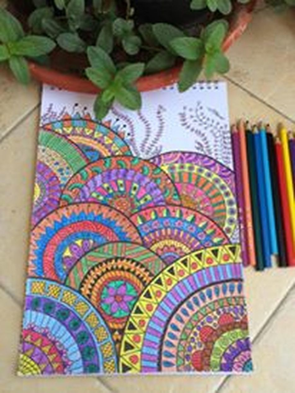Adults Colors Coloring Book Day Hoppy Indoors  Mint Green Multi Colored My Time Is Now Relaxing Moments
