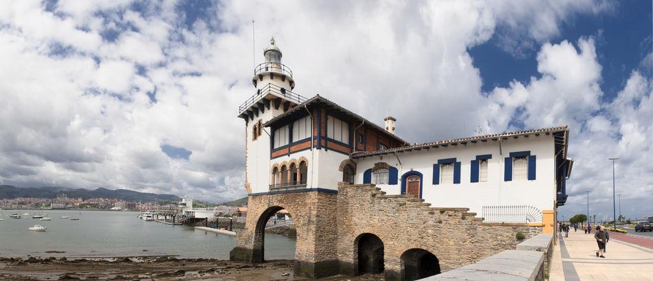 Basque Country Bizcaia Euskadi Getxo Lighthouse Panorama Panoramic Sea SPAIN Vizcaya
