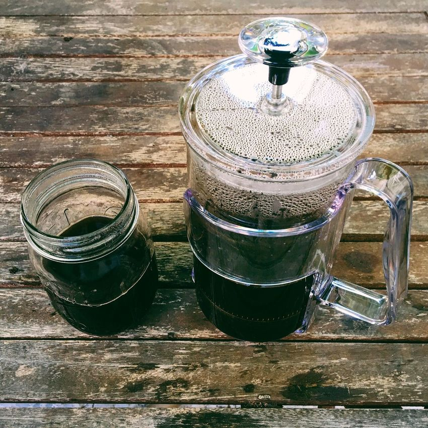 Happy International Coffee Day High Angle View Container Still Life Table Wooden Water Freshness Man Made Object No People Culture Coffee International Coffee Day French Press