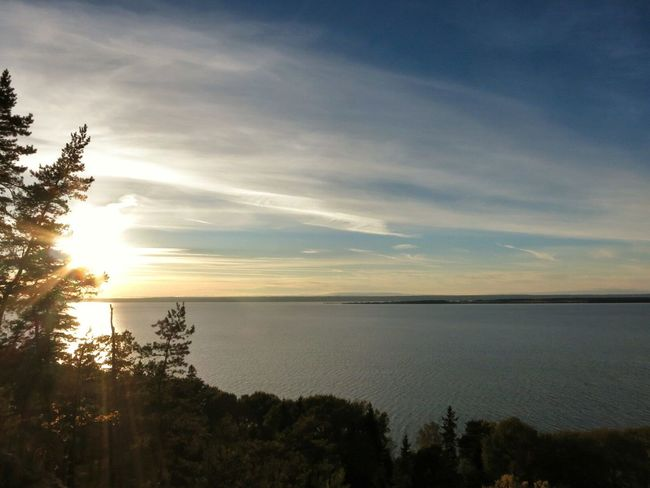 Trekking Enjoying The View Lake Vättern, Visingsö Island .