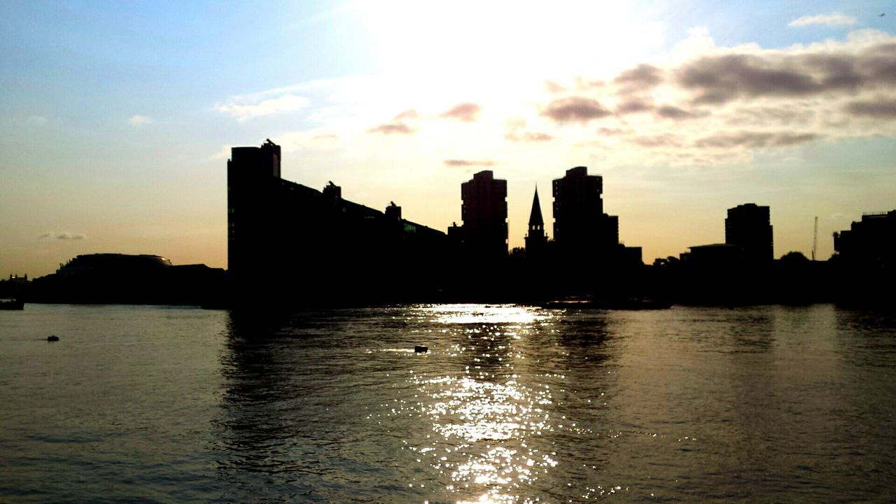Creative Light And Shadow in London On The Thames Winter Sunrise Battersea Silhouette Golden View Cityscape Tranquility