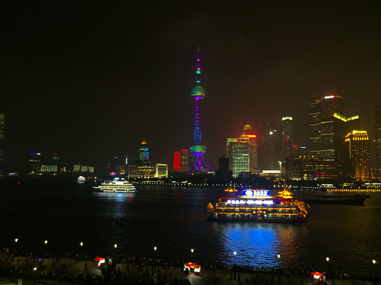 Architecture City Cityscape Illuminated Night Pearl Tower  Shanghai Skyline At Night Skyscraper Travel Travel Destinations
