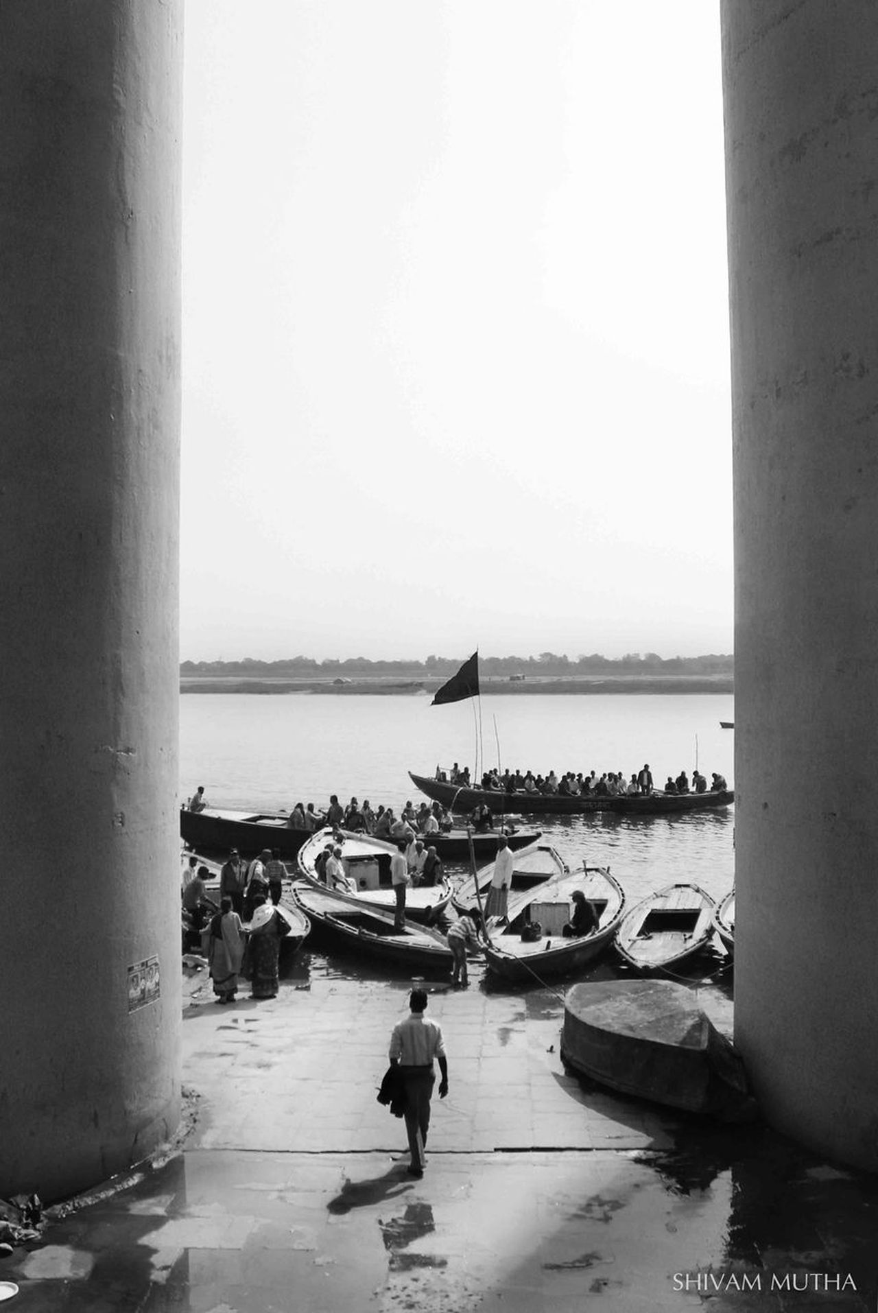 Varanasi, India Ganges, Indian Lifestyle And Culture, Bathing In The Ganges, Architecture Working Day Water Indiapictures People Blackandwhite Photography Black & White City Varanasidiaries Banaras,varanasi,ghat, Streetphotography Composition EyeEmNewHere