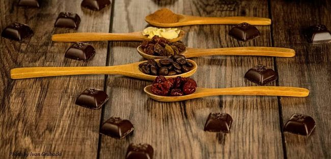Organic Food Coffe Chocolate Wooden Spoons Coffe Time Coffee Seeds