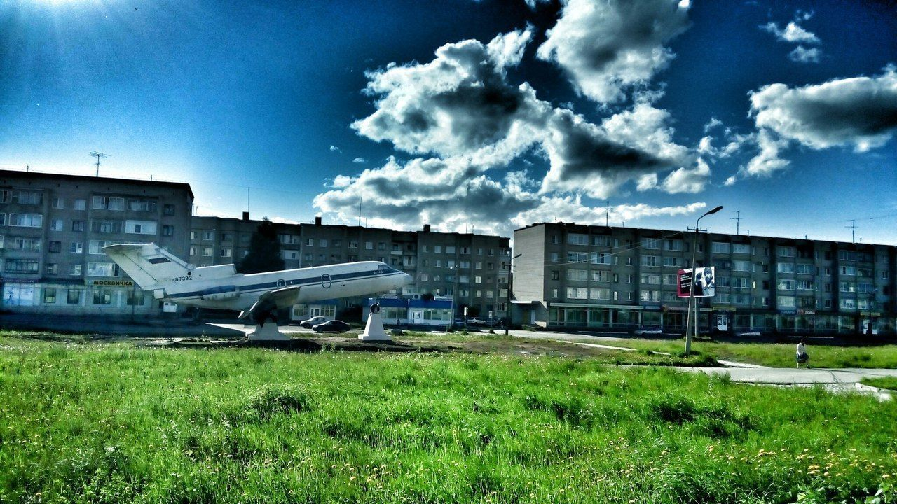 architecture, built structure, building exterior, grass, sky, day, cloud - sky, outdoors, no people, industry, nature, city