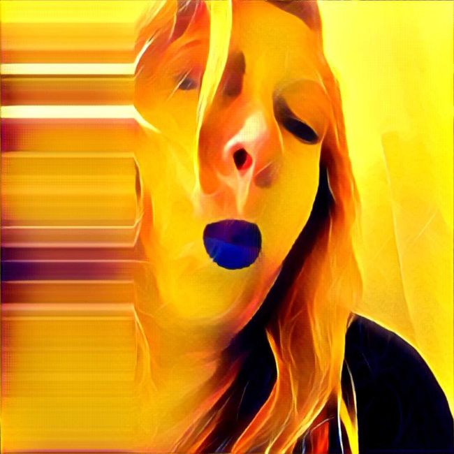 KISS HEART SUNDAY 💋❤️️💋 Vibrant Color Facial Expression Yellow For My Friends That Connect Abstract Me This Could Be An Album Cover IPhoneArtism