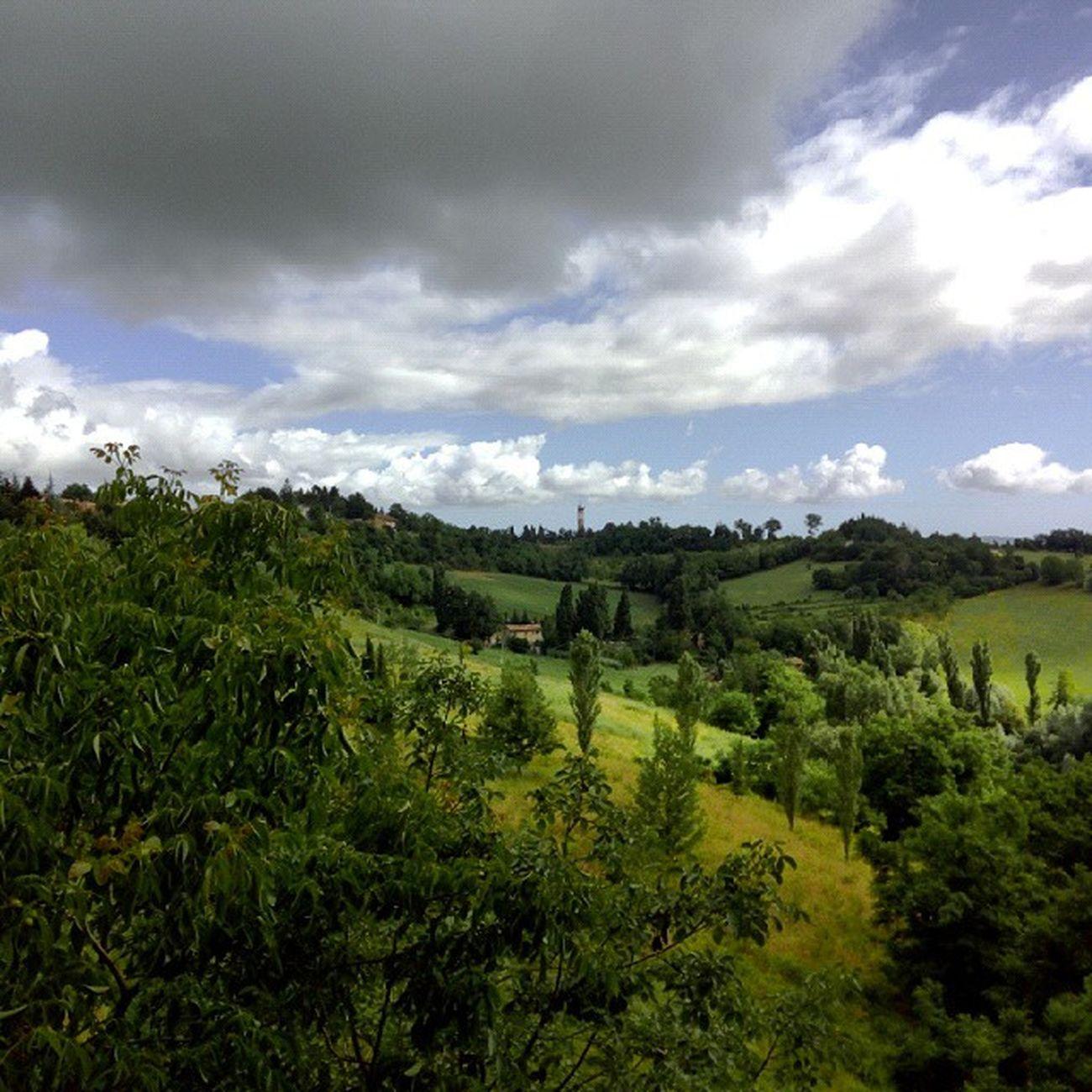 vista mattutina del Montefeltro , Urbino Landscape Cloudscape Nofilter Marcheforyou Marche