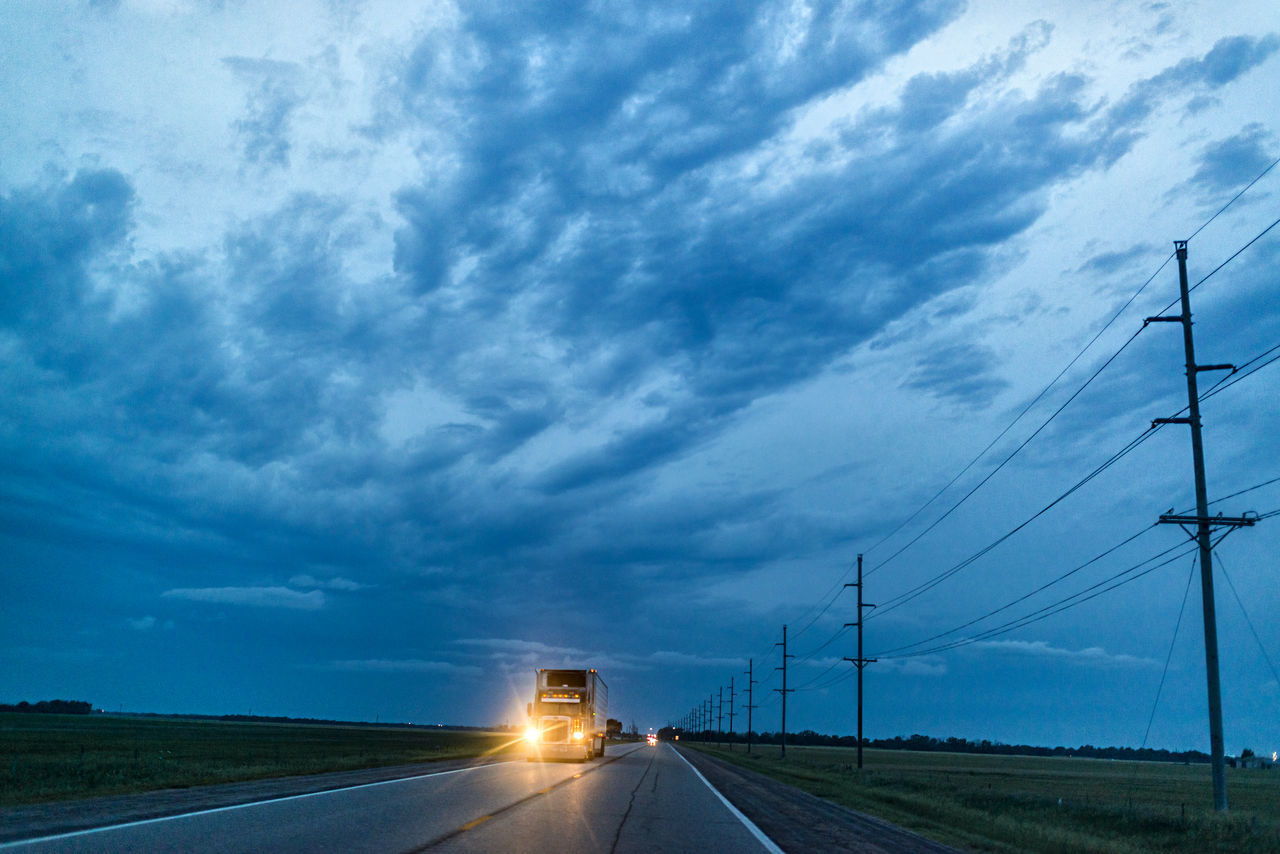 Beautiful stock photos of truck, Beauty In Nature, Cloud, Cloudy, Country Road