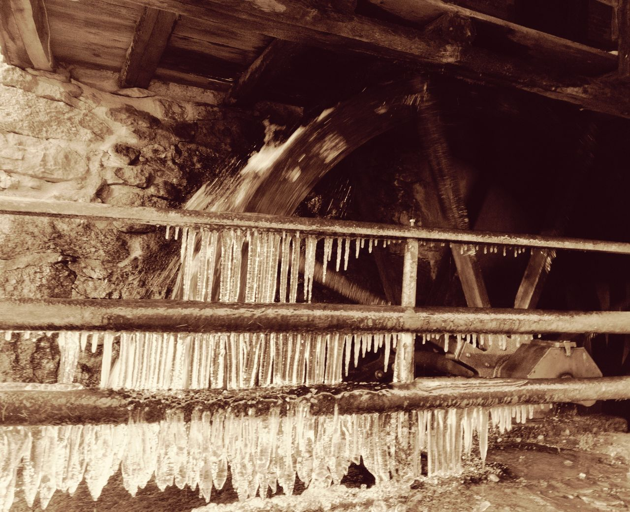 No People Wood - Material Day Built Structure Outdoors Architecture Nature Hydroelectric Power Icicles