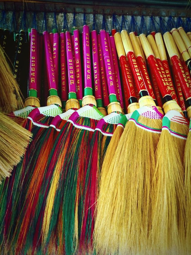 Going To Market Broom Real Life Streetphotography Street Stall Market Marketplace Realife Colorful brooms in Baguio City .. Yes, this is an item found in most homes in the Philippines ..